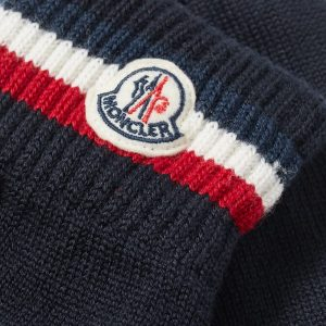 Moncler Tricolore Logo Wool Gloves