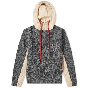 Moncler Hooded Knitted Marl Knit